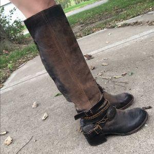 FREEBIRD OTK Aspen Boots 9 Engineer Harness